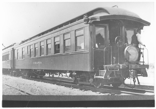 3/4 left rear view of parlor car &quot;Chama.&quot;<br /> D&amp;RGW    Taken by Kelley, Frank O.