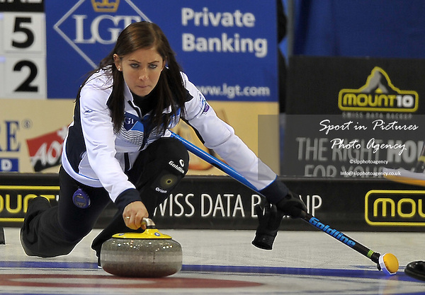 Eve Muirhead (Scotland). Womens semi finals. Le Gruyère AOP European Curling Championships 2016. Intu Braehead Arena. Glasgow. Renfrewshire. Scotland. UK. 25/11/2016. ~ MANDATORY CREDIT Garry Bowden/Sport in Pictures - NO UNAUTHORISED USE - +447837 394578