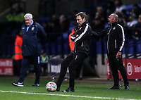 Bolton Wanderers' first team coach Julian Darby <br /> <br /> Photographer Andrew Kearns/CameraSport<br /> <br /> The EFL Sky Bet Championship - Bolton Wanderers v Sheffield Wednesday - Tuesday 12th March 2019 - University of Bolton Stadium - Bolton<br /> <br /> World Copyright © 2019 CameraSport. All rights reserved. 43 Linden Ave. Countesthorpe. Leicester. England. LE8 5PG - Tel: +44 (0) 116 277 4147 - admin@camerasport.com - www.camerasport.com