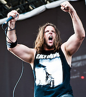 Unearth performing at Heavy MTL 2011 in Montreal, QC.