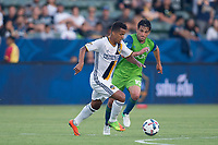 Carson, CA - Saturday July 29, 2017: Giovani dos Santos during a Major League Soccer (MLS) game between the Los Angeles Galaxy and the Seattle Sounders FC at StubHub Center.