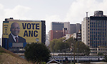 Electoral poster for ANC in downtown Johannesburg. April 2009