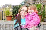 Little Ava Diggin with her mum at the cycle in her honor in Killorglin on Saturday