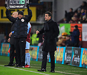 9th December 2017, Turf Moor, Burnley, England; EPL Premier League football, Burnley versus Watford; Watford manager Marco Silva shouts some instructions to his players