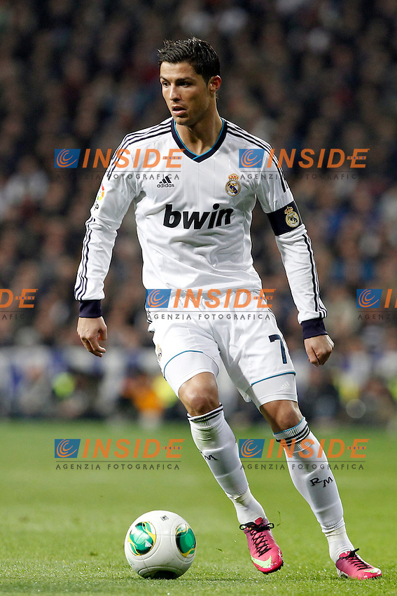 Real Madrid v Barcelona during King's Cup match, in the pic: Cristiano Ronaldo. January 30, 2013. (ALTERPHOTOS/Caro Marin) .Madrid 30/1/2013 Stadio Santiago Bernabeu .Football Calcio 2012/2013.Coppa del Re - Kings Cup Spagna.Foto Alterphotos / Insidefoto .ITALY ONLY