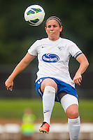 Boston Breakers defender Cat Whitehill (4). Sky Blue FC and the Boston Breakers played to a 0-0 tie during a National Women's Soccer League (NWSL) match at Yurcak Field in Piscataway, NJ, on July 13, 2013.