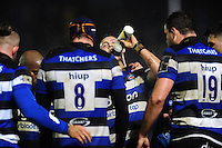Jack Walker of Bath Rugby has a drink during a break in play. Anglo-Welsh Cup match, between Bath Rugby and Gloucester Rugby on January 27, 2017 at the Recreation Ground in Bath, England. Photo by: Patrick Khachfe / Onside Images