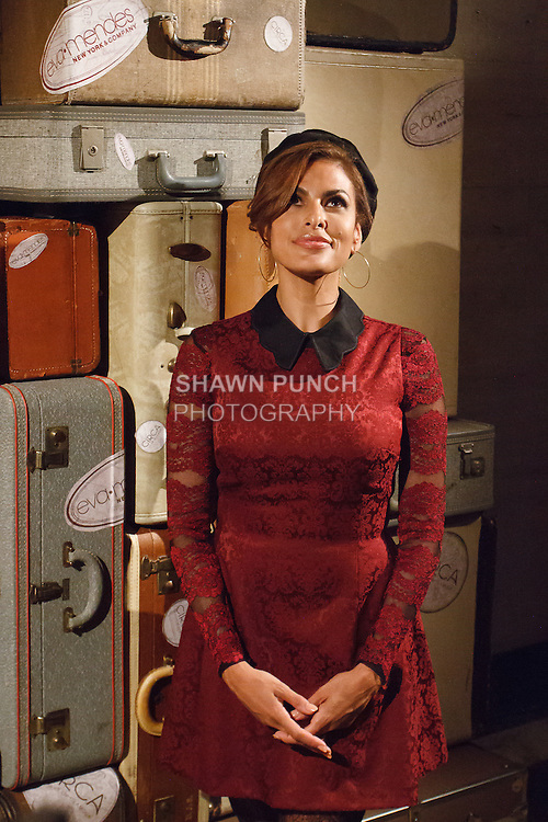 Actress and designer Eva Mendes posing after her Eva Mendes for New York & Company Spring Summer 2017 fashion show, on September 6 2016, at Academy Mansion during New York Fashion Week Spring Summer 2017.