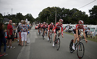 Team Lotto-Souda at recon in the morning<br /> <br /> stage 9: TTT Vannes - Plumelec (28km)<br /> 2015 Tour de France