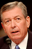 Washington, D.C. - April 13, 2004 --  Attorney General John Ashcroft testifies before the National Commission on Terrorist Attacks Upon the United States (the 9-11 Commission) in Washington, DC on April 13, 2004.<br /> Credit: Ron Sachs / CNP<br /> [RESTRICTION: No New York Metro or other Newspapers within a 75 mile radius of New York City]
