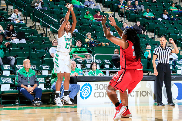 DENTON TEXAS, NOVEMBER 10: University of North Texas Mean Green Women's Basketball v Mid-America Christian University at the Super Pit in Denton on November 10, 2017 (Photo Rick Yeatts Photography/Colin Mitchell)