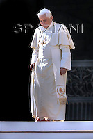 Pope Benedict XVI during his weekly general audience in St. Peter square at the Vatican, Wednesday Nov. 5, 2008.