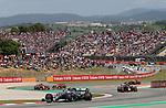 12.05.2019, Circuit de Catalunya, Barcelona, FORMULA 1 EMIRATES GRAN PREMIO DE ESPAÑA 2019<br /> , im Bild<br />Valtteri Bottas (FIN#77), Mercedes-AMG Petronas Motorsport, Sebastian Vettel (GER#5), Scuderia Ferrari Mission Winnow, Charles Leclerc (MCO#16), Scuderia Ferrari Mission Winnow, Max Verstappen (NEL#33), Aston Martin Red Bull Racing<br /> <br /> Foto © nordphoto / Bratic
