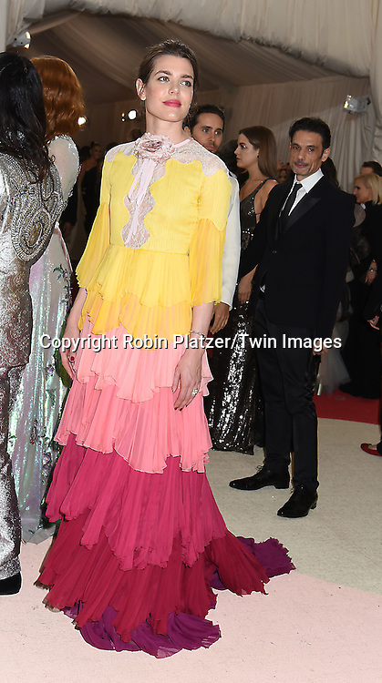 Charlotte Casiraghi attends the Metropolitan Museum of Art Costume Institute Benefit Gala on May 2, 2016 in New York, New York, USA. The show is Manus x Machina: Fashion in an Age of Technology. <br /> <br /> photo by Robin Platzer/Twin Images<br />  <br /> phone number 212-935-0770