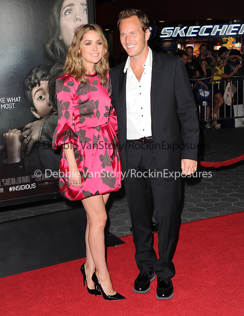 Rose Byrne and Patrick Wilson <br />  at The World premiere of INSIDIOUS: CHAPTER 2 held at Universal CityWalk in Universal City, California on September 10,2013                                                                   Copyright 2013 Hollywood Press Agency