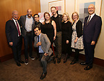 Gregory S. Hurst, Lea Salonga, John Leguizamo, Irene Sankoff, David Hein, Daryl Roth, Heather A. Hitchens and Bruce E. Whitacre attends the Theatre Forward Broadway Roundtable on February 2, 2018  at UBS in New York City.