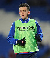 Bolton Wanderers' Zach Clough during the pre-match warm-up <br /> <br /> Photographer Kevin Barnes/CameraSport<br /> <br /> The EFL Sky Bet Championship - Cardiff City v Bolton Wanderers - Tuesday 13th February 2018 - Cardiff City Stadium - Cardiff<br /> <br /> World Copyright &copy; 2018 CameraSport. All rights reserved. 43 Linden Ave. Countesthorpe. Leicester. England. LE8 5PG - Tel: +44 (0) 116 277 4147 - admin@camerasport.com - www.camerasport.com