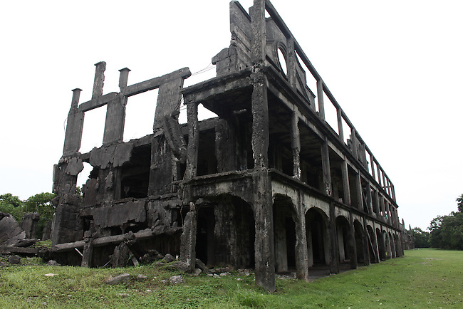 The ghostly ruins of Topside Barracks  stand as an enduring reminder of the heavy fighting that took place on Corregidor island, the Philippines, during World War II.  June 26, 2011.