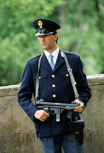 Armed police in Italy