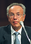 "Andy Grove, Chairman of the Board, Intel Corporation, testifies during the United States Congress' Joint Economic Committee hearing on ""Removing Barriers to the New Economy"" in Washington, DC on June 6, 2000..Credit: Ron Sachs / CNP"