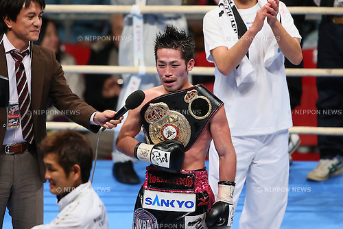 Ryo Miyazaki, .DECEMBER 31, 2012 - Boxing : .WBA Minimum weight Title Fight .at Bodymaker Colosseum (Osaka Prefectural Gymnasium) in Osaka, Japan. .(Photo by Akihiro Sugimoto/AFLO SPORT) [1080]