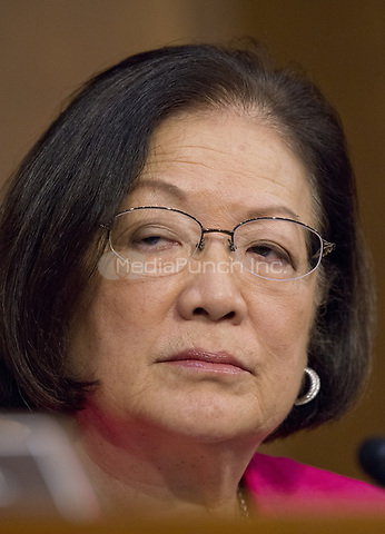United States Senator Mazie Hirono (Democrat of Hawaii)  listens as Judge Neil Gorsuch testifies before the United States Senate Judiciary Committee on his nomination as Associate Justice of the US Supreme Court to replace the late Justice Antonin Scalia on Capitol Hill in Washington, DC on Monday, March 20, 2017.<br />Credit: Ron Sachs / CNP / MediaPunch<br />(RESTRICTION: NO New York or New Jersey Newspapers or newspapers within a 75 mile radius of New York City)