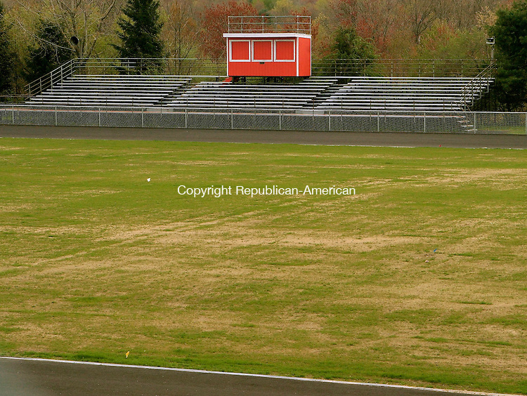 WATERTOWN, CT- 08 MAY 2005-050805JS05--The football fields at the John J. Mills Athletic Complex at Watertown High School may not be used in 2005 so the grass on the field can get a full uear's growth.   --- Jim Shannon Photo--John J. Mills Athletic Complex,  Watertown High School are CQ