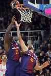 League ACB-ENDESA 2017/2018 - Game: 20.<br /> FC Barcelona Lassa vs Retabet Bilbao Basket: 90-58.<br /> Rakim Sanders &amp; Adrien Moerman.