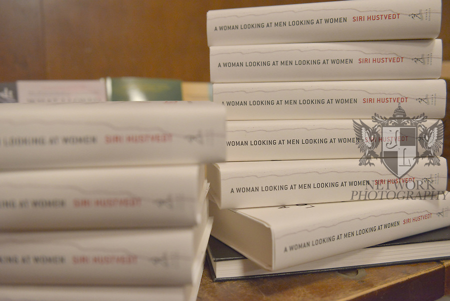 CORAL GABLES, FL - FEBRUARY 20: General view of books on display during Author Siri Hustvedt discussing and sign copies of her new book 'A Woman Looking at Men Looking at Women: Essays on Art, Sex, and the Mind' at Books and Books on February 20, 2017 in Coral Gables, Florida. ( Photo by Johnny Louis / jlnphotography.com )