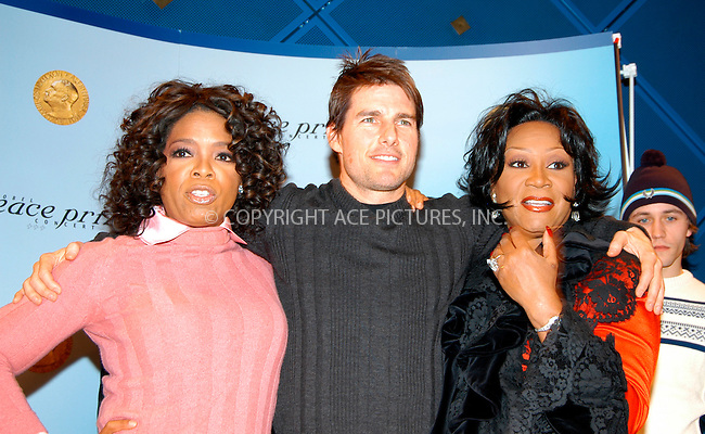 WWW.ACEPIXS.COM . . . . .  ... . . . . US SALES ONLY . . . . ...Oslo, Norway, December 11, 2004: Oprah Winfrey, Tom Cruise and Patti LaBelle at a Nobel Peace Prize Concert press conference. Please byline: M. Delucci - FAMOUS - ACE PICTURES.... . . . .  ....Ace Pictures, Inc:  ..Alecsey Boldeskul (646) 267-6913 ..Philip Vaughan (646) 769-0430..e-mail: info@acepixs.com..web: http://www.acepixs.com