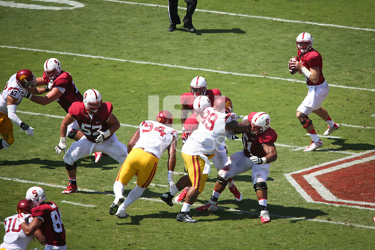STANFORD, CA-SEPTEMBER 6, 2014- Stanford hosts USC at Stanford Stadium in the second game of the regular season.