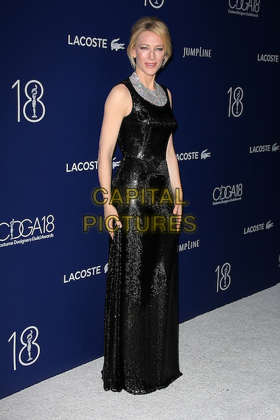 BEVERLY HILLS, CA - FEBRUARY 23: Cate Blanchett at the 18th Costume Designers Guild Awards at The Beverly Hilton Hotel on February 23, 2016 in Beverly Hills, California.<br /> CAP/MPI/DE<br /> &copy;DE//MPI/Capital Pictures