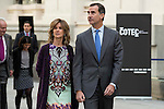President of COTEC, Cristina Garmendia and King Felipe VI of Spain during the main event of COTEC at Crystal Gallery of the Cibeles Palace in Madrid, Spain, November 23, 2015. <br /> (ALTERPHOTOS/BorjaB.Hojas)