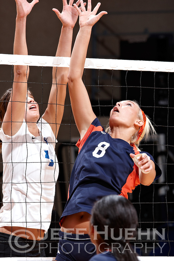 SAN ANTONIO , TX - NOVEMBER 14, 2009: The University of Texas at Arlington Mavericks vs. The University of Texas At San Antonio Roadrunners Women's Volleyball at the UTSA Convocation Center. (Photo by Jeff Huehn)