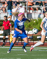 Boston Breakers defender Carmelina Moscato (19).  In a National Women's Soccer League Elite (NWSL) match, the Boston Breakers defeated the FC Kansas City, 1-0, at Dilboy Stadium on August 10, 2013