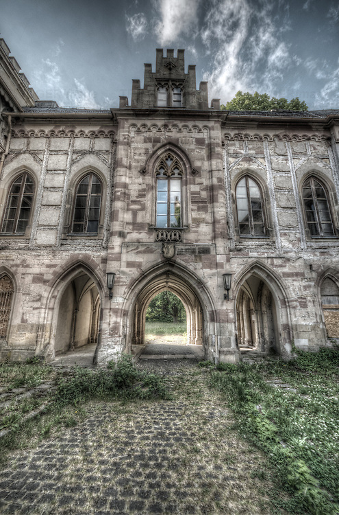 Old abandoned building exterior in Eastern Germany
