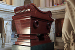 The tomb of Napoleon Bonaparte under the dome church. Hotel les Invalides. Paris. City of Paris. France