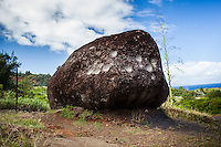 Pohaku Kani Bellstone  along Kahekili Hwy., Maui