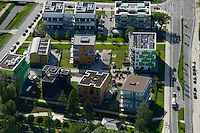 DEUTSCHLAND Hamburg, Bauprojekte der IBA Internationale Bauausstellung, Energieeffizienz Haeuser <br />  /<br /> GERMANY Hamburg Wilhelmsburg, IBA projects, energy efficient and low prices material buildings