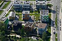 DEUTSCHLAND Hamburg, Bauprojekte der IBA Internationale Bauausstellung, Energieeffizienz Haeuser <br />  /<br /> GERMANY Hamburg Wilhelmsburg, IBA projects, energy efficient and low prices material buildings