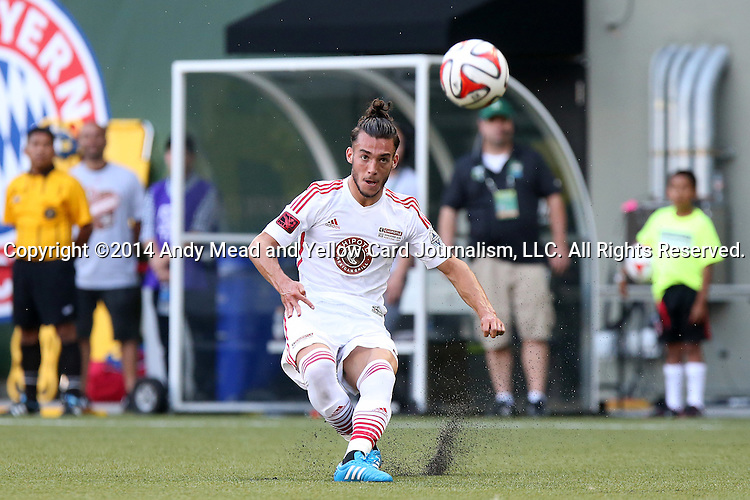 04 August 2014: MLS Homegrown's Russell Teibert (CAN). The Chipotle MLS Homegrown Game was played as part of the Major League All-Star Game week events. The MLS Homegrown players played the Portland Timbers U-23 team at Providence Park in Portland, Oregon.