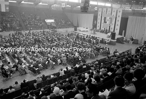 Rassemblement de l'union nationale, 26 mai 1973, a l'Arena Paul-Sauve<br /> <br /> PHOTO :  Agence Quebec Presse - Alain Renaud