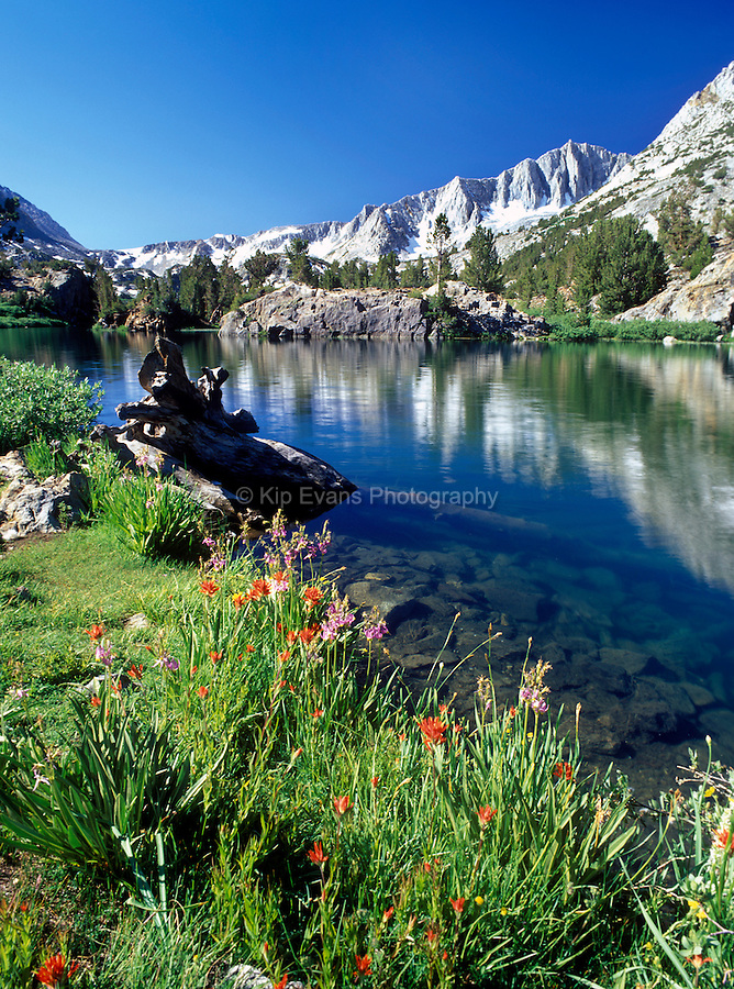 A lake along the John Muir Trail, Sierra Nevada CA