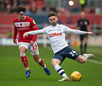 Preston North End's Sean Maguire (right) under pressure from  Bristol City's Liam Walsh (left) <br /> <br /> <br /> Photographer David Horton/CameraSport<br /> <br /> The EFL Sky Bet Championship - Bristol City v Preston North End - Saturday 10th November 2018 - Ashton Gate Stadium - Bristol<br /> <br /> World Copyright © 2018 CameraSport. All rights reserved. 43 Linden Ave. Countesthorpe. Leicester. England. LE8 5PG - Tel: +44 (0) 116 277 4147 - admin@camerasport.com - www.camerasport.com