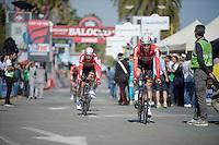 Jurgen Van den Broeck (BEL/Lotto-Soudal) finishing the opening TTT<br /> <br /> 2015 Giro<br /> finish zone of stage 1: San Lorenzo Al Mare - San remo (TTT/17.6km)
