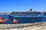 Costa Fascinosa cruise ship in Grand Harbour, Valletta, Malta