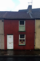 Pictured: The house of Graham McMurray in Pontypridd, Wales, UK<br /> Re: Emma Rhys-Jones's favourite uncle Graham McMurray charged with theft by finding after £100,000 was found stuffed up the chimney of his house at Pontypridd, South Wales