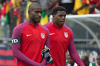 East Hartford, CT - Saturday July 01, 2017: Bill Hamid and Sean Johnson during an international friendly game between the men's national teams of the United States (USA) and Ghana (GHA) at Pratt & Whitney Stadium.