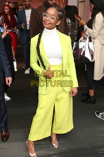 NEW YORK  NY- APRIL 6: Marsai Martin at Beautycon Festival NYC 2019 Day 1 at the Javits Center in New York City on April 6, 2019.      <br /> CAP/MPI/WG<br /> ©WG/MPI/Capital Pictures