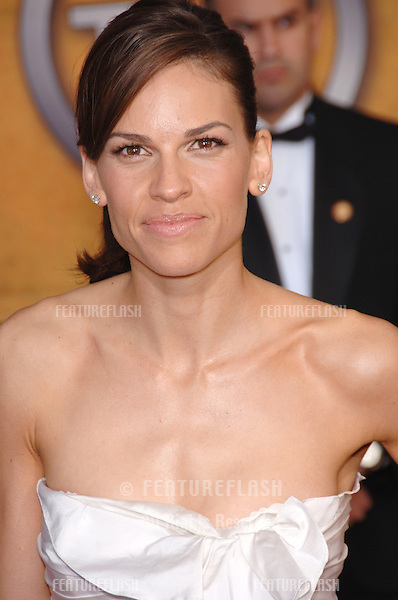 HILARY SWANK at the 12th Annual Screen Actors Guild Awards at the Shrine Auditorium, Los Angeles..January 29, 2006  Los Angeles, CA.© 2006 Paul Smith / Featureflash
